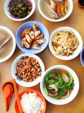 Asian chinese style street food dishes royalty free stock photo