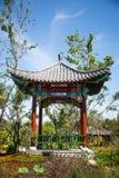 Asian Chinese, Tianjin Wuqing, Green Expo, garden building, Pavilion Stock Photos