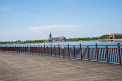 Asian Chinese, Tianjin, Wuqing, Green Expo,Lakeview, viewing platform Stock Photography