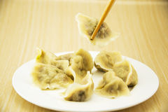 Asian Chinese traditional pasta Boiled dumplings, Stock Image