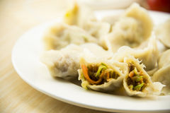 Asian Chinese traditional pasta Boiled dumplings Stock Images
