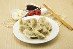 Asian Chinese traditional pasta Boiled dumplings Royalty Free Stock Photo