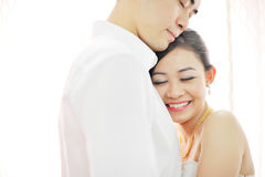 Asian Chinese wedding couple Stock Image