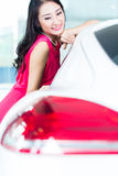 Asian Chinese woman buying SUV car Royalty Free Stock Photos