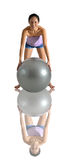 Asian Chinese Woman posing with Gym Ball Royalty Free Stock Photo