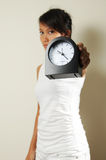 Asian Chinese Woman showing urgency of time Royalty Free Stock Images