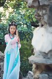 Asian Chinese woman in traditional ancient drama costume hanfu cosplay Stock Photo