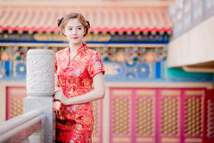 Asian Chinese woman in Traditional Chinese Stock Photography
