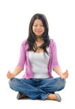 Asian Chinese woman yoga lotus pose Royalty Free Stock Photos