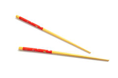 Asian chopsticks on a white background Stock Image