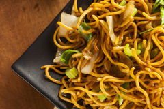 Asian Chow Mein Noodles. With Vegetables and Chopsticks stock photos