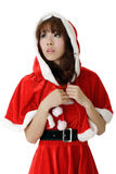 Asian Christmas girl Royalty Free Stock Image