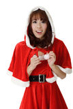 Asian Christmas girl Royalty Free Stock Photography