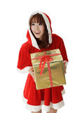 Asian Christmas girl Royalty Free Stock Photo