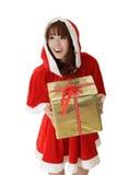 Asian Christmas girl Royalty Free Stock Photo