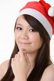 Asian Christmas girl Royalty Free Stock Images
