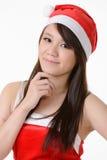 Asian Christmas girl Stock Image