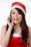 Asian Christmas girl Stock Images
