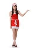 Asian Christmas girl Stock Photos