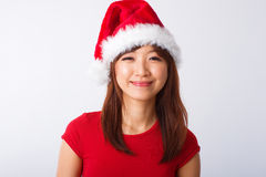 Asian Christmas girl portrait Royalty Free Stock Photo