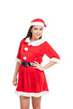 Asian Christmas girl with Santa Claus clothes Royalty Free Stock Images
