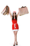 Asian Christmas girl Stock Photo