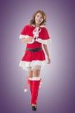Asian Christmas girl walk Stock Photography