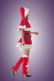 Asian Christmas girl walk Stock Photo