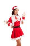 Asian Christmas Santa Claus girl Stock Images
