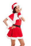 Asian Christmas Santa Claus girl Royalty Free Stock Photography