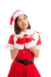 Asian Christmas Santa Claus girl Stock Photography