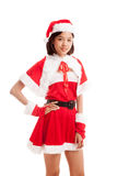 Asian Christmas Santa Claus girl Royalty Free Stock Photo