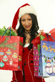Asian christmas woman Royalty Free Stock Photo