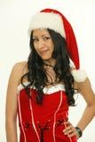 Asian christmas woman Stock Images