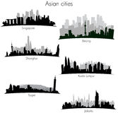 Asian cities skylines Royalty Free Stock Photos