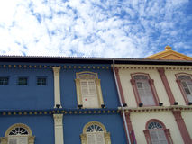 Asian City. Colourful asian shop houses in Singapore Stock Image