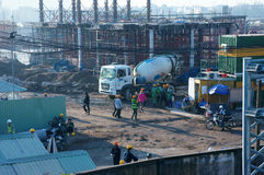 Free Asian City, Construction Site, Build Apartment Building Royalty Free Stock Images - 62477239