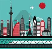 Asian city Royalty Free Stock Photography