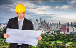 Asian civil engineer Royalty Free Stock Photography