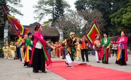 Asian civilian artists performing spiritual activities Royalty Free Stock Images