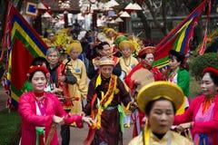 Asian civilian artists performing spiritual activities Stock Photography