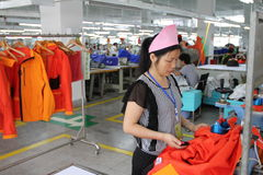 Asian clothes factory Stock Image
