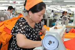 Asian clothes factory Royalty Free Stock Photo