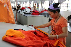 Asian clothes factory Stock Photos