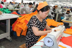 Asian clothes factory Stock Photography