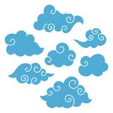 Asian Clouds stock illustration