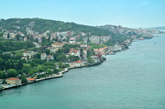 Asian coast of Bosphorus Royalty Free Stock Photos