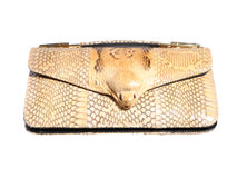Asian cobra leather handbag Stock Image
