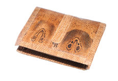 Asian cobra leather wallet Royalty Free Stock Photography