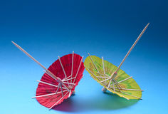 Asian cocktail umbrellas Royalty Free Stock Photo